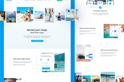 Fly Now Pay Later Site Design
