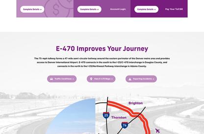 E-470 Website Design & Development