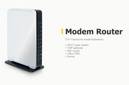 Modem router design: 7-in-1