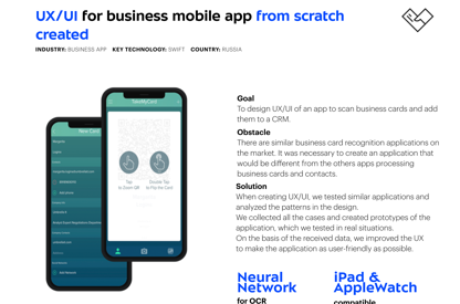 UX/UI for business mobile app...