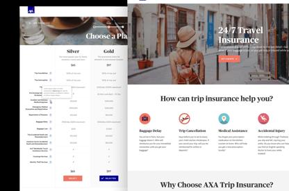 Axa Insurance Website