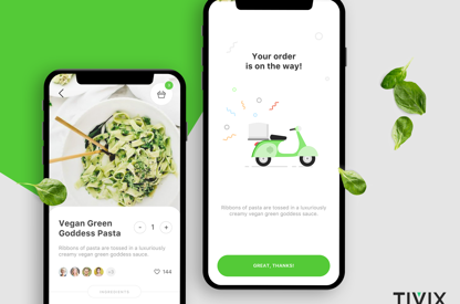 Food delivery app concept