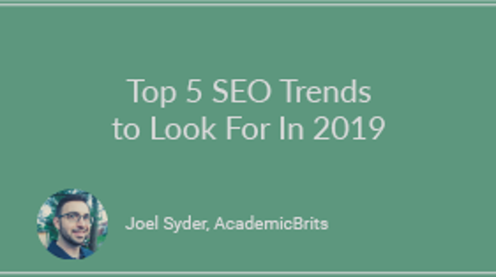 Top 5 SEO Trends to Look for in 2019