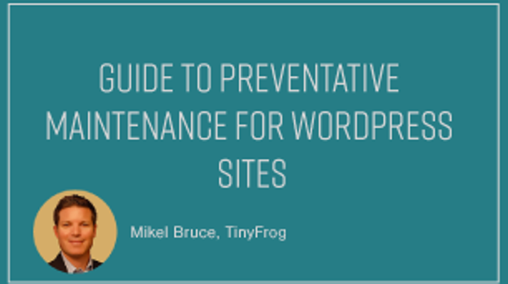 Guide to Preventative Maintenance for WordPress Sites