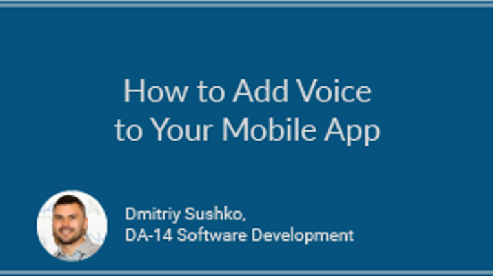 How to Add Voice to Your Mobile App