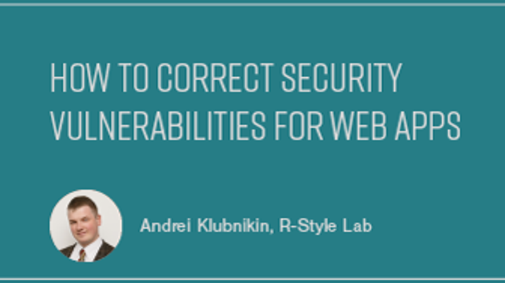 How to Correct Security Vulnerabilities for Web Apps